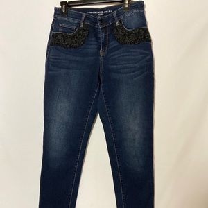Chico Jeans with black lace Size O